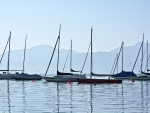Sailboats on Lake Chiemsee, Germany