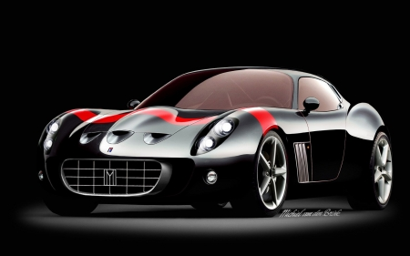 Black And Red GTO - Black, Red, Ferrari 599, Concept, GTO
