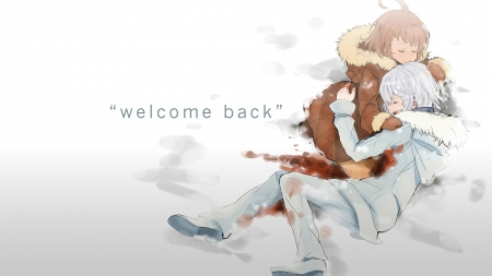Welcome Back - last order, snow, brown hair, white hair, to aru majutsu no index, accelerator, winter, blood