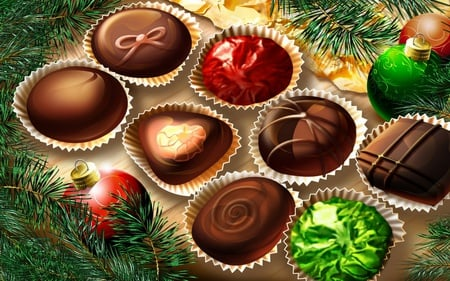 christmas chocolate - christmas, chocolate