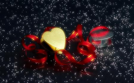 Christmas next door! - cute, lovely, merry christmas, christmas, red ribbon, love, heart, gift