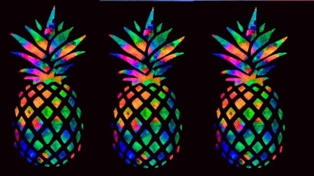 Rainbow Pineapple 3d And Cg Abstract Background