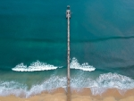 Long pier from air