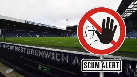 Scum Alert - west brom, albion, relegated, championship, boing boing, wba, football, dirty, relegation, soccer, bye bye, inbreed, west bromwich albion, the shit, baggies, low life, hawthorns, inbred, scum, sandwell town, down, hahahahahaha