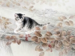 Chinese Cat Painting