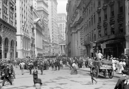 New York Street 1900 - USA, America, old, rare, monochrome, 1900, photography, New York, US, Street, New York Street 1900, vintage
