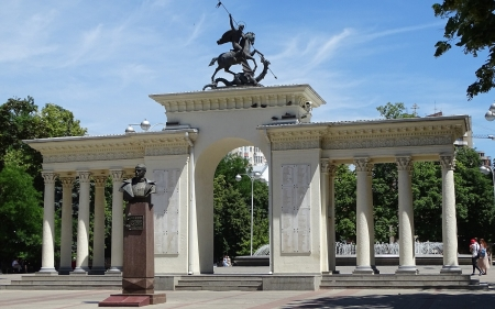 Monument in Russia - gate, monument, Russia, arch