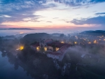 Sunrise over Tyniec Monastery