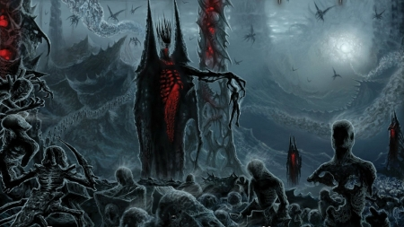 HELL - black, hell, zombies, fantasy, reaper, gothic, dark, sinister, devil