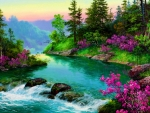 Nature River Painting