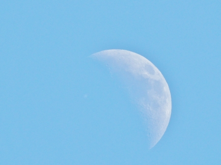 Moon In The Afternoon - Photography, Sky, Moon, Space