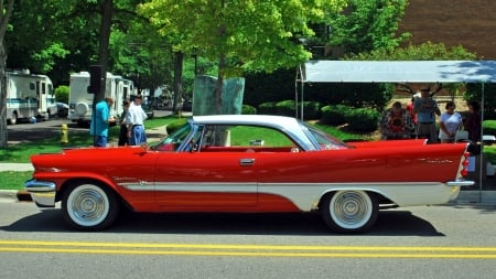 1957 DeSoto  Fireflite Sportsman - red, v8, beautiful, chrome, american, hemmi, car, white, classic