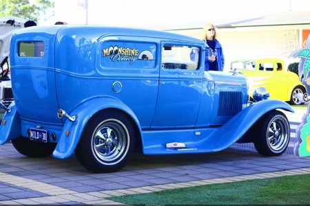 Ford Delivery HotRod - hotrod, ford, panel van, classic, blue