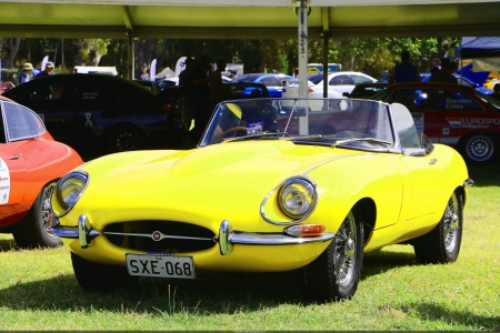 Jaguar E-Type Series II Roadster - yellow, jaguar, roadster, jag, e-type