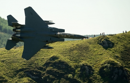 F-15 - Low altitude, 26 June 2018, USAF F15, Dolgellau, Wales, Mach Loop, Fighter