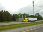 Yellow Cabbed Semi Truck