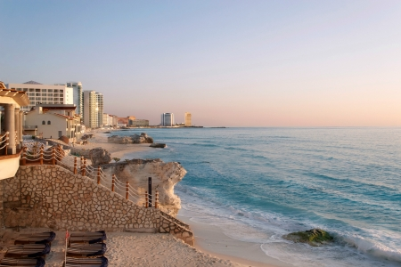 Cancun Bay, Mexico - beach, hotels, mexico, bay