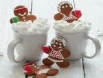 Gingerbread People In Hot Cocoa Tub