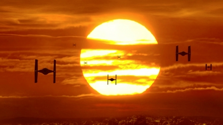 Star Wars Tie Fighters Fantasy Abstract Background Wallpapers On Desktop Nexus Image 2395496