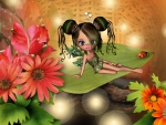 Little Green Fall Fairy