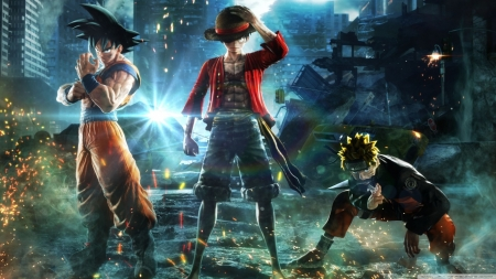 jump force - luffy, goku, naruto, jump force
