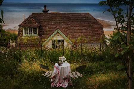 Beach House - forgotten places, seaside, cottages, teatime