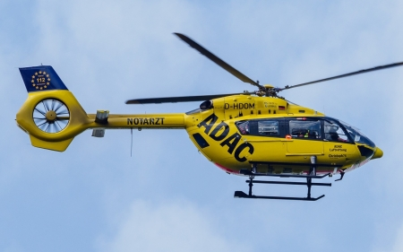 Ambulance Helicopter - yellow, aircraft, sky, helicopter