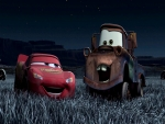Lightning And Mater Laughing Of Tractors