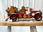 Gingerbread Snow With Old Car