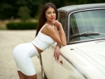 Sexy Model and Car