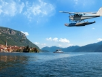 Seaplane over Southern Europe Islands