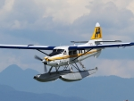 Seaplane over Mountains