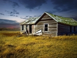 Abandoned House Field Prairie