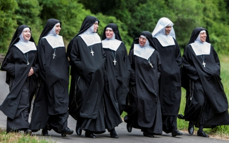 Happy Nuns - nuns, sisters, smiles, monastery, happy