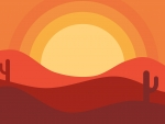 Sunset Desert Background
