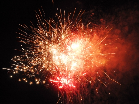 Abstract  Fireworks- Smoke And Sparkle - Fireworks, Sparkle, sky, Photography, Smoke, Abstract, July