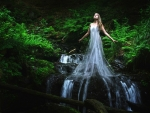 Maiden Rising From a Waterfall
