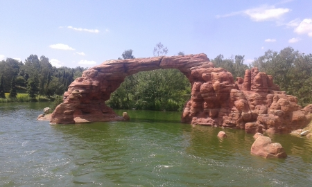 rainbow bridge - architecture, bridge, paris, disneyland, nature