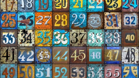 Texture - pattern, rustic, colorful, andy maguire, texture, numbers, paper
