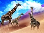 Colorful Giraffes
