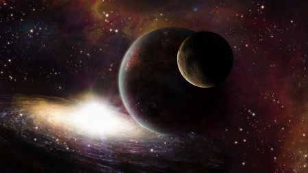 Planets - stars, fantasy, luminos, planet, space, cosmos