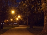 Park at Night, Liepaja, Latvia