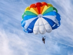 Parasailing in Sunny Day