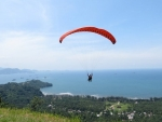Paragliding over Seashore