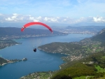 Paragliding over River