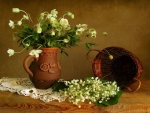 Lily Of Valley And Basket