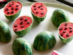 Mini Watermelon Cake Cups