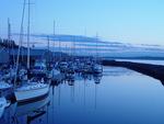 sunrise on port