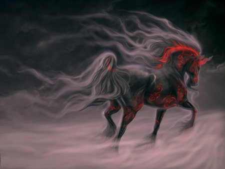 gothic ride - horse, dark art