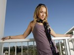 Hayden Panettiere Leaning on Railing